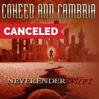 Coheed and Cambria with Special Guest Chon | Canceled