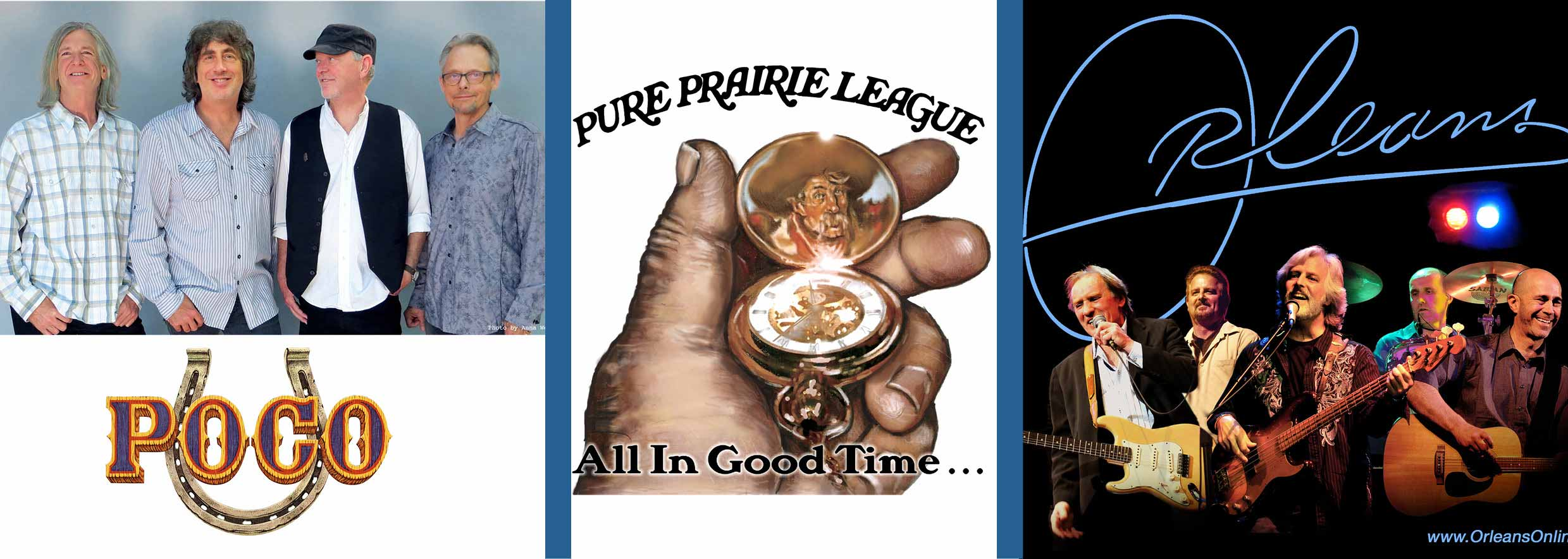 POCO,  Pure Prairie League and Orleans