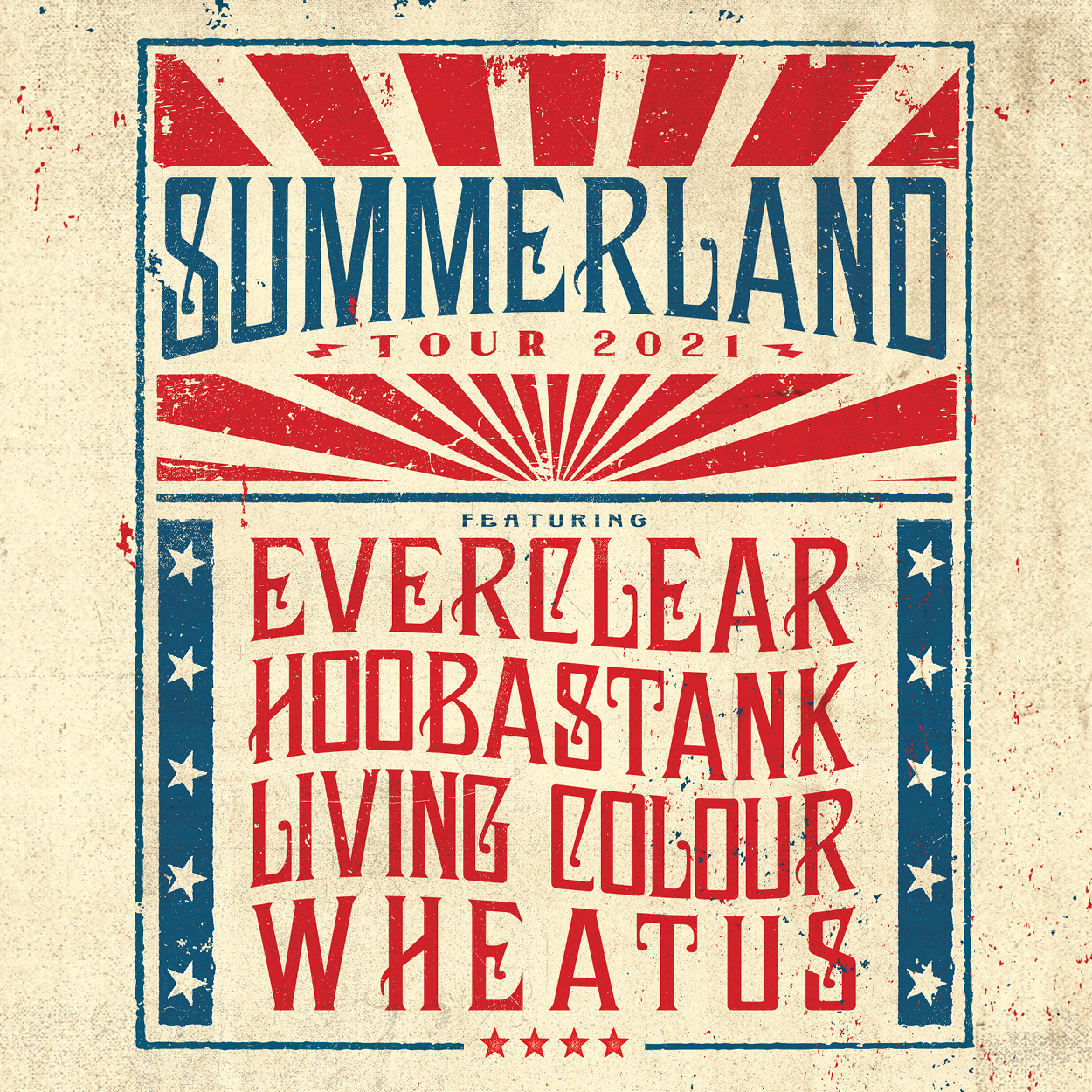 Summerland Tour 2021 featuring Everclear, Hoobastank, Living Colour and Wheatus